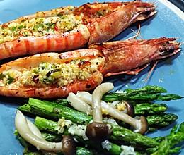 #梅太厨房#蒜茸烤大明虾的做法