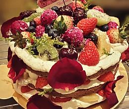 裸蛋糕——这可能是我做过颜值最高的奶油蛋糕的做法