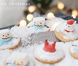圣诞雪人棉花糖饼干的做法