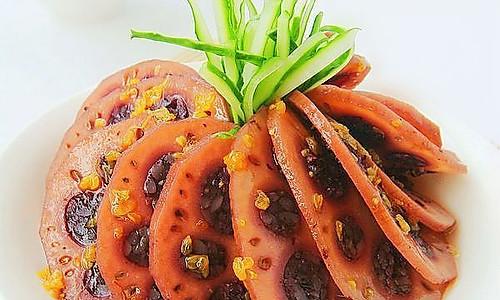 桂花紫米藕的做法