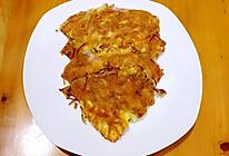胡萝卜丝早餐蛋饼的做法