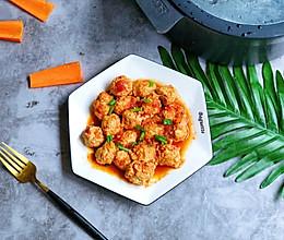 #爽口凉菜,开胃一夏!#番茄鸡肉丸的做法