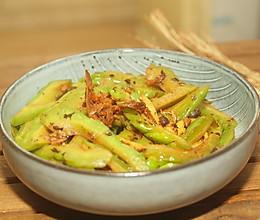 十分钟快手菜之苦瓜炒豆豉鲮鱼的做法