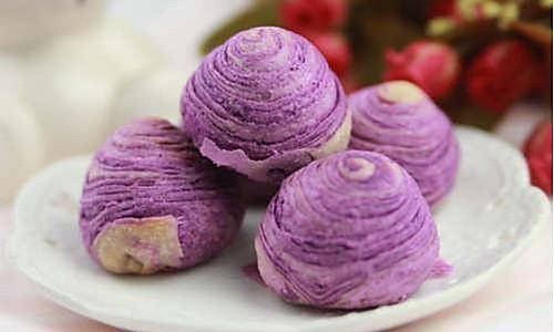 【番茄配方】紫薯酥—— 要的就是这抹迷人的紫色的做法