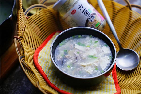 六菌豆腐肉末羹的做法