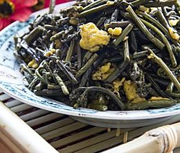 香炒蕨菜的做法