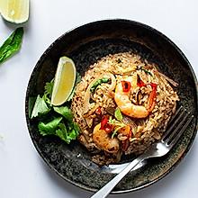 泰式大虾罗勒炒饭---泰国菜系