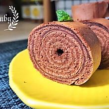 无需烤箱,平底锅也能做可可年轮蛋糕#美食新势力#