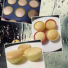 淡奶油戚风小蛋糕(水浴法蒸蛋糕)