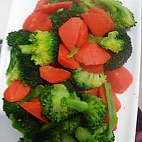 胡萝卜配西兰花的做法图解3