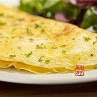 【曼步厨房】快手早餐 - 烟熏三文鱼蛋饼的做法图解5