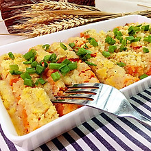 粉蒸南瓜(附米粉的做法)#爱的暖胃季-美的智能破壁料理机#