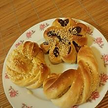椰蓉花色小面包