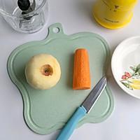 胡萝卜苹果米糊的做法图解1