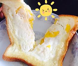 快手早餐——鸡蛋芝士面包片的做法