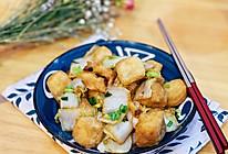 #白色情人节限定美味#9元不到的下饭菜-酱香油豆腐炒白菜的做法