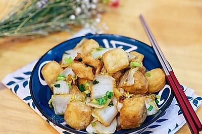 9元不到的下飯菜-醬香油豆腐炒白菜