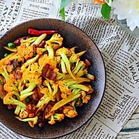五花肉干煸有机花菜-在家做出饭店的味道#一机多能 一席饪选#的做法图解19