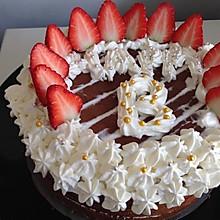 巧克力草莓生日蛋糕(戚风蛋糕坯)