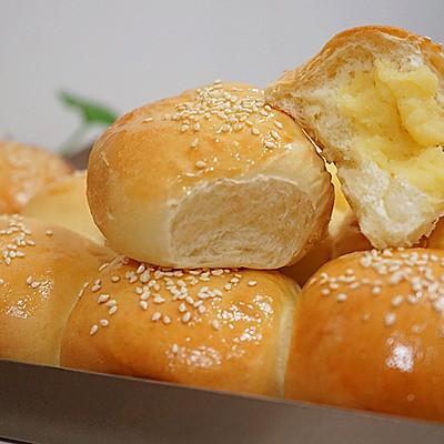 奶黄小餐包------一次发酵即可超级好吃【附奶黄馅儿做法】