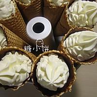 #新鲜新关系#无蛋香草冰淇淋&冰淇淋甜筒的做法图解9