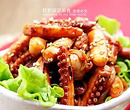 【韩式辣酱炒鱿鱼须】----简单传统的韩式海鲜菜的做法