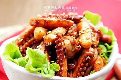 【韩式辣酱炒鱿鱼须】----简单传统的韩式海鲜菜