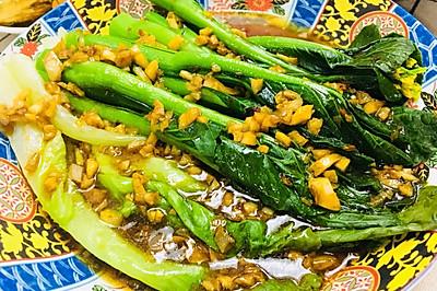 蒜蓉蚝油生菜拼菜心