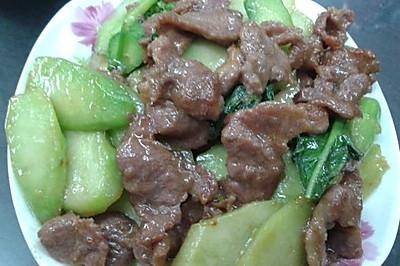 猪肉炒芥蓝