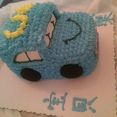 小汽车奶油蛋糕