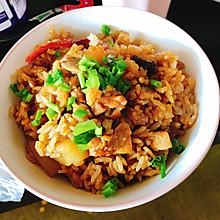 香辣香菇鸡肉土豆焖饭