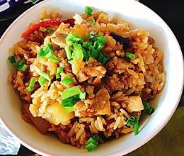 香辣香菇鸡肉土豆焖饭的做法