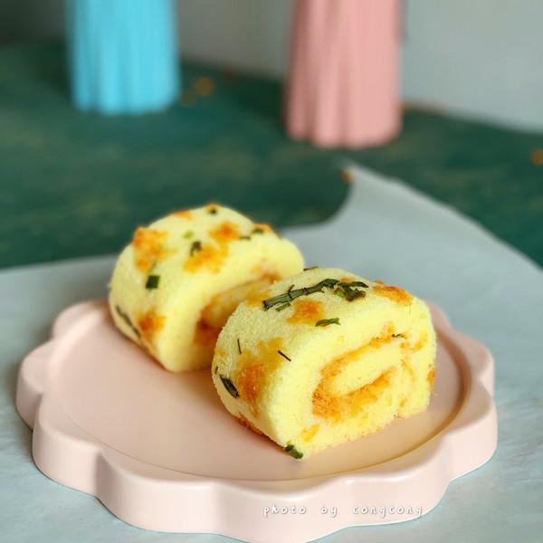 #520,美食撩动TA的心!#葱香肉松蛋糕卷的做法
