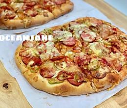 厚底大披萨PIZZA,从此B胜客可以走一边去了的做法