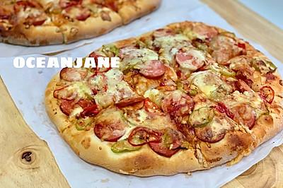 厚底大披萨PIZZA,从此B胜客可以走一边去了
