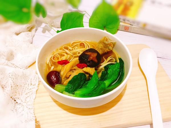 #520,美食撩动TA的心!#香菇干丝鸡汤的做法