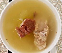 冬瓜排骨金华火腿汤的做法