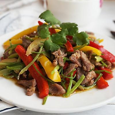 彩椒炒羊肉