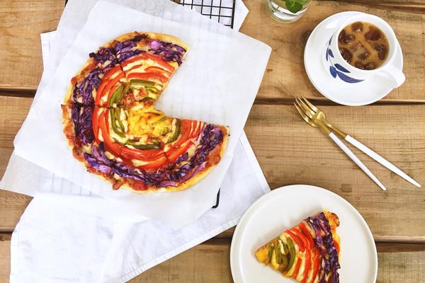 彩虹披萨#有颜值的实力派#的做法