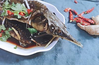 【越の厨】———鲟鱼蒸吃