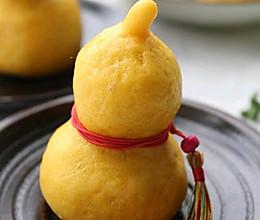#缤纷下午茶#小葫芦豆沙包