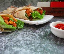 墨西哥鸡肉卷#金龙鱼外婆乡小榨菜籽油 外婆的时光机#