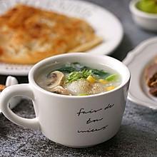 菠菜蘑菇鱼片粥