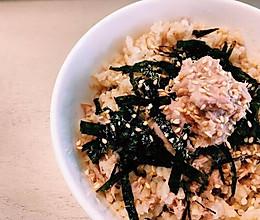 低脂金枪鱼海苔拌饭的做法