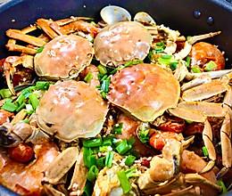 家庭版虾蟹煲的做法