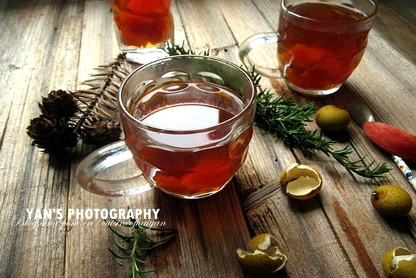 女性美颜瘦身两不误的养生水果茶--【木瓜龙眼苹果茶】的做法