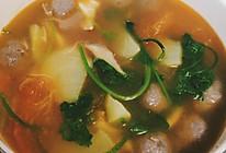 西红柿牛肉丸汤的做法