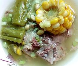 夏日消暑―苦瓜黄豆骨头汤的做法