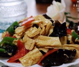 #人人能开小吃店#腐竹炒木耳 | 味美营养低脂素菜健康的做法