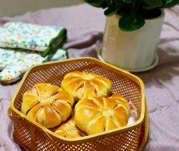 果酱花朵面包的做法